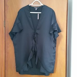 2/$40 NWT Victoria Secret Black Ruffle Robe